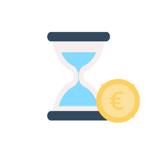 Tijd is geld | Ticketlabel